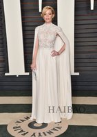 bank pictures - 2016 Oscars Celebrity Dresses th Academy Awards Elizabeth Banks A Line High Neck Cowl Back Illusion Formal Evening Gowns Floor Length