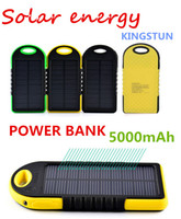 Cheap 5000mAh Portable 2 USB Port Solar Power Bank Charger External Backup Battery With Retail Box For iPhone iPad Samsung Mobile Phone bank01