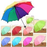 flower umbrella - 1 x Hot Sell Lady Princess Magic Flowers Dome Parasol Sun Rain Folding Umbrella Colors