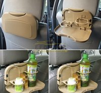 Cheap Khaki Folding Auto Car Back Seat Table Drink Food Cup Tray Holder Stand Desk Free Shipping