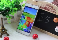 Wholesale Fingerprint S5 G900F Fake G LTE IPS x720P MTK6582 Quad core GB RAM GB ROM Android4 KitKat MP Health rate cell phones