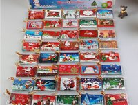Wholesale Christmas Tree Decoration Card Flash Powder Message Card New Year Greeting Card Handmade Blessing Paper Card