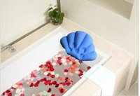 bathroom articles - FBH051022 Hotel household bathroom articles for use a pillow Bath crock headrest suction cup terry inflatable PVC pillow