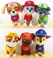 Wholesale 2015 English Russian Walking Paw Patrol plush Toys Educational music Interactive Puppy Kids Toys Dog For Children Electronic P