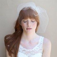 Cheap Muslim Bridal Veils Bridal hair accessories Best One-Layer Blusher  Veils wedding jewelry set