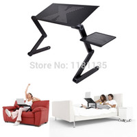 Wholesale Portable Adjustable Foldable Laptop Notebook PC Desk Table Vented Stand Bed Tray