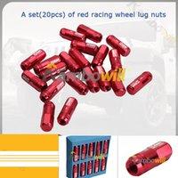 Wholesale 20x Red Racing Wheel Nuts Forged Aluminum Fit For Honda Acura Lexus Mitsubishi Ford Toyota Hyundai Kia Car A Set Auto Part