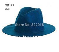 Wholesale Novelty Men Faux Wool Felt Hats Women Winter Blank Trilby Caps Mens Floppy Brim Hat Womens Fedora Cap Fall Spring