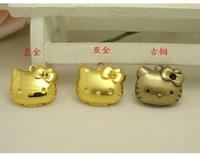Wholesale Cute kitten photobox copper pendant mm DIY Jewelry Accessories