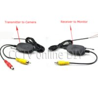 automobile video monitor - 2016 New Automobiles g Wireless Av Cable Transmitter And Receiver for Car Video Monitor Rearview Backup Camera Up To m Range M38295