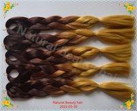 Wholesale Two tones color Brown jumbo kanekalon xpression hair braids ombre kanekalon braiding hair fake hair