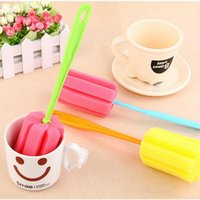 Wholesale sponge lengthened the kitchen sponge cleaning Cup brush cleaning brush taste health brush Cup brush