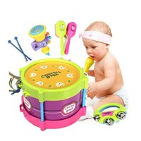Wholesale New Baby Roll Drum Musical Toy Instruments Band Kit Kids Children Toys Gift Set