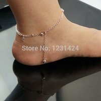 athena beads - Athena Double Layer Hollow Out Flower Crystal Rhinestone Beads Rose Gold Foot Chain Women Korea Fashion Anklets Jewelry A00209
