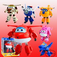 Wholesale Big Size CM Super Wings Toys Deformation Planes Transformation robot Action Toy Figures For Christmas gift Brinquedos