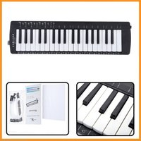 Wholesale Swan Keys Music Fundamentals Melodica Octaves F to F Black with Carrying Bag New Arrival Woodwind Instruments