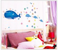bathroom decorations pictures - DIY Cartoon Dolphin PVC Removable Wall Stickers Home Decoration Pictures Bathroom wall decals for Kids Rooms