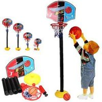 Cheap New 2014 Creative Children Outdoor game Toys Fashion Popular Gift For Kids Learning Basketball Toy Set with Stand