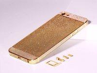 Wholesale 5S Full Diamond Frames Gold platinum Housing Glass Full Diamod Shell Battery Cover Back Bezel Middle Frame For Iphone S