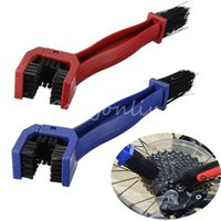 Wholesale Newstyle Blue Red Motorcycle Bike Bicycle Cycling Chain Tire Maintenance Cleaning Clean Crankset Brush Brake Dirt Remover Tool