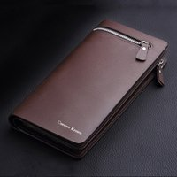 Wholesale 200pcs Fashion New Men s Luxury Business Wallets Long Zipper Purse Multicard Brand Day Clutch Handbag For Man