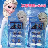 Wholesale 2015 New Frozen Anna Elsa Stamper Set Cartoon Character Princess Stamp New Novelty Toy Gifts Stamps