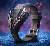 al por mayor ver la luz roja-El nuevo diseño 2015 de la novedad Snakeheads llevó el envío caliente de la gota de la venta del reloj de Digitaces del silicón de los hombres de la luz roja