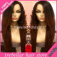 Cheap Top Quality Ombre Lace Front Wig Virgin Malaysian Human Lace Wigs Two Tone Straight Lace Wigs With Baby Hair 130-180Density