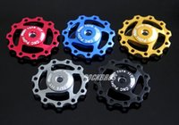 Wholesale AEST MTB Road Bike Aluminium Jockey Wheel Rear Derailleur For Pulley SHIMANO T Bicycle Parts Colors