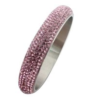 brand name jewelry - Summer Fashion Brand Name Hot Sell Full drill crystal Rhinestones bracelets Bangle korean jewelry for women stainlesss steel