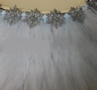 american flakes - 100 cm Tulle Table Skirt with Flakes Wedding Tutu Table Decoration Cheap Creative Baby Showers Birthdays Party Decor Custom Made
