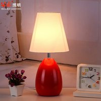 bedding country style - Modern table lamp desk lights Minimalist Style living room lamps pastoralism E27 LED bedroom rustic lighting V wrought iron table lamp