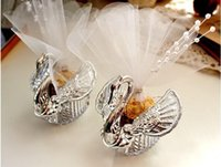 Cheap Acrylic Silver Swan Wedding Favor Box Elegant wedding candy boxes Favor holders Wedding Gifts bag with pear 2015 New arrival