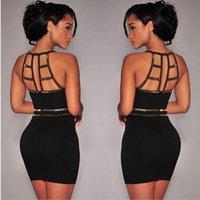 ladies chiffon fashion dresses - 2015 retail sexy fashion Ladies Black Bandage Bodycon Clubwear Party Evening Cocktail Mini Dress high quality