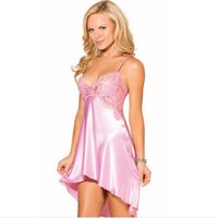 babydoll dress sale - 2015 Hot Sale Women Nightgown Sleeveless Sexy Silk Pajamas Babydoll Chemise Dresses Sexy Women Pyjamas Good Qaulity Sleepwear