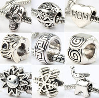 pandora charms - 140styles Silver Big Hole Beads for Pandora Charm Bracelets ilia Biagi Bracelets Metals Loose Beads Jewelry DIY