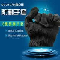safety glove - Hot Protect Stainless Steel Wire Safety Gloves Cut Resistant Anti Abrasion breathable Work Gloves working Protective Gloves level