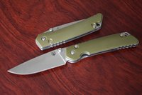 Wholesale Knifes camping hunting army green Shirogorov tactical folding knife pocket paramilitary knives outdoor survival rescue tool hand EDC