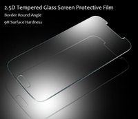 Wholesale Free DHL Premium Real Tempered Glass Film Guard Screen Protector Arc Edge mm Slim D for S5 S3 S4 MINI IPHONE4 iphone6 plus
