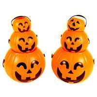 Halloween lamp supplies - Halloween supplies pumpkin lamp bar decoration creative plastic halloween pumpkin buckets halloween pumpkin lights CM