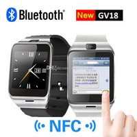 Wholesale GEAR2 GV18 NFC Aplus Smart Watch With touch Screen Camera Bluetooth NFC SIM GSM Phone Call U8 data sync Waterproof for Android Phone