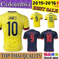 colombia - Best Thai Colombia soccer jersey home away FALCAO Colombia jersey JAMES RODRIGUEZ Colombia football soccer shirt