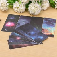 Wholesale 12 Set Amazing Paper Bookmarks Galaxy Of Stars Shining Universe Galaxy Collection For Literary x6 cm Small Gift Novelty
