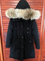 arctic wolf fur - Real picture show black Arctic Bay Ladies down coats CHARLOTTE WOMEN DOWN PARKA with Oversize Large wolf Fur