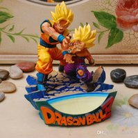 Wholesale Anime Dragon ball Z Pvc figure Father and Son Goku Gohan deification RAMA ver cm Gifts