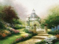 beauty beast pictures - Thomas Kinkade Wall Prints Beauty And The Beast Falling In Love Canvas Paintings Realistic Landscape Living Room Wall Paint