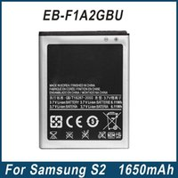 accu battery - S2 i9100 Battery EB F1A2GBU For Samsung Galaxy S2 i9100 mAh Mobile Phone Battery Batterie Accu Factory