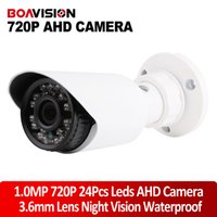 Wholesale AHD CAMERA P AHDM CCTV Security HD Cameras leds IR Night Vision Bullet Outdoor For AHD DVR Free Bracket