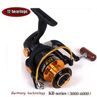 Wholesale 2015 new fishing reel KB high quality for shimano feeder fishing bears metal front drag spinning Aluminum spool