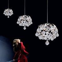 Wholesale modern restaurant crystal lamps bedroom chandelier entrance Crystal chandelier